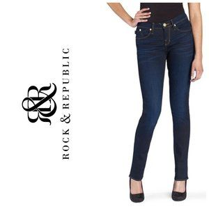 ROCK & REPUBLIC Dark Wash Blue Skinny Jeans